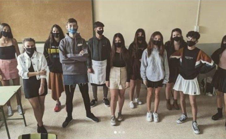 Varios institutos de toda España se han solidarizado con Mikel