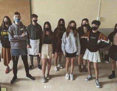 En falda al instituto: el movimiento que recorre España en solidaridad contra el bullying