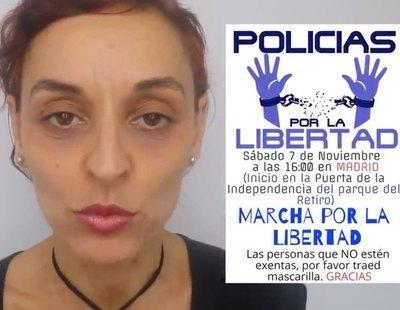 """Una asociación de agentes de la Policía Nacional se concentra """"contra la imposición de mascarillas"""""""