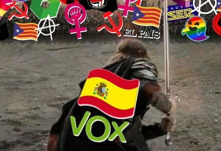 VOX ya exhibió a la perfección su estrategia trumpiana con una campaña en redes sociales donde se erigía en contra de todos los colectivos que considera como enemigos