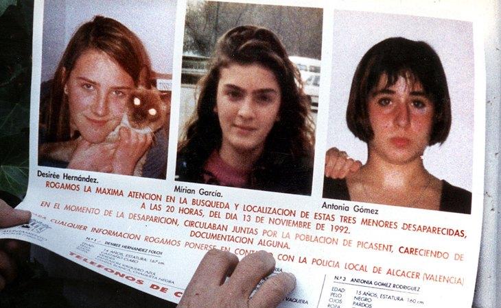 Desirée, Miriam y Toñi, las niñas del Alcàsser