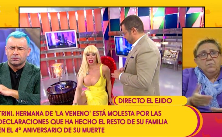 Trini Ortiz, hermana de La Veneno, ha participado en 'Sálvame' para recordar a Cristina