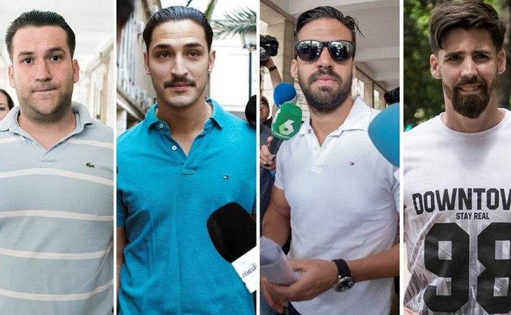 José Ángel Prenda, Alfonso Jesús Cabezuelo, Antonio Manuel Guerrero y Jesús Escudero, los miembros de 'La Manada' acusados de abusar de una joven en Pozoblanco