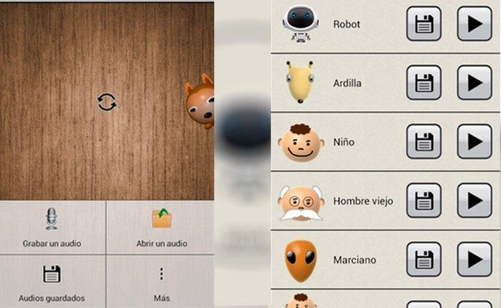 La aplicación Modificador de voz para Android