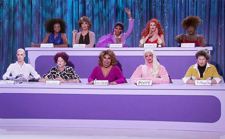 Las participantes de 'RuPaul's Drag Race 12' en el Snatch Game