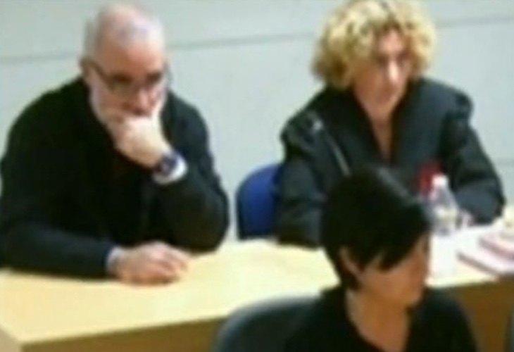 Rosario Porto y Alfonso Basterra, durante el juicio por el asesinato de Asunta