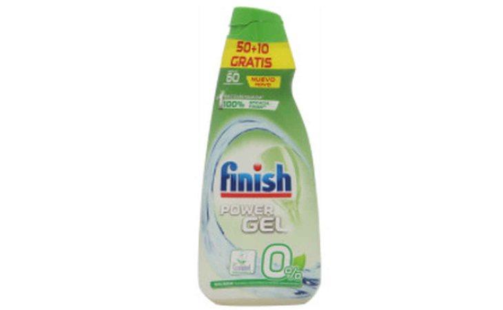 Finish Power Gel 0% Sin Folfatos destaca por su positivo impacto medioambiental