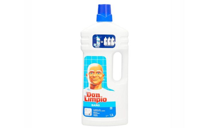 Don Limpio para baño flaquea en etiquetado e irritación