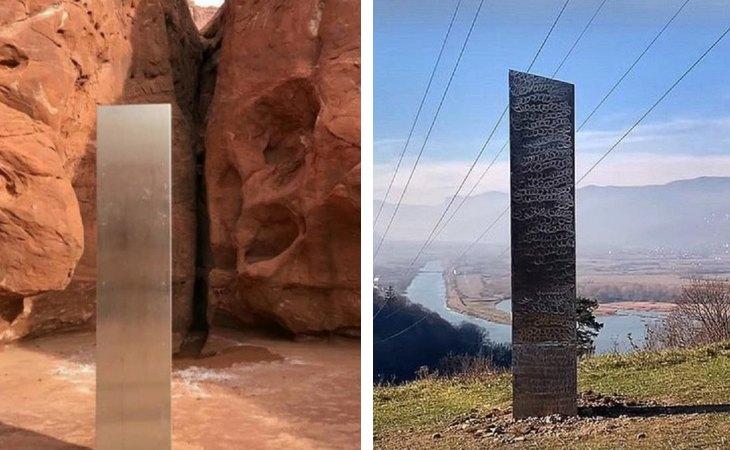 Monolitos metálicos hallados en Utah y en Rumanía