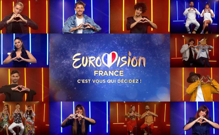 Estos son los doce nombres de Francia para Eurovisión 2021