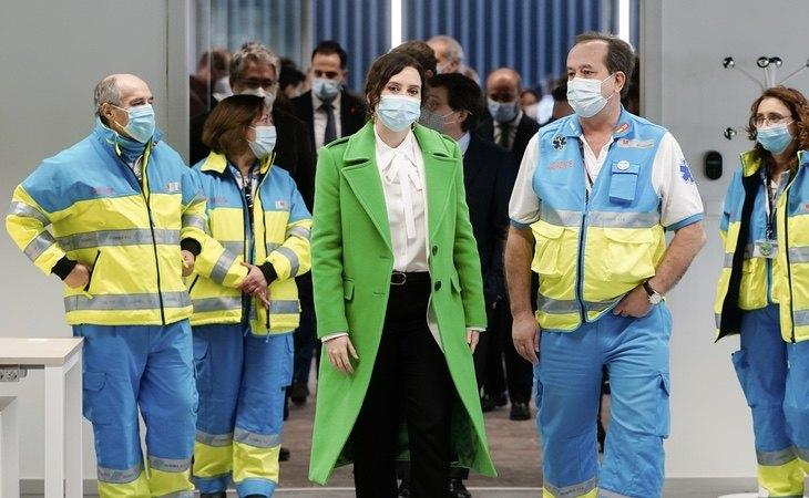Ayuso, durante la inauguración del hospital Isabel Zendal