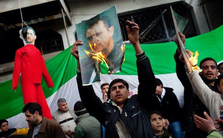 Las protestas contra Al Assad fueron el germen de la guerra civil