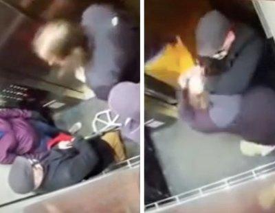 Un anciano propina una brutal paliza a un joven por toserle en la cara en un ascensor