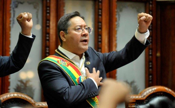 Luis Arce, tras ser investido presidente de Bolivia