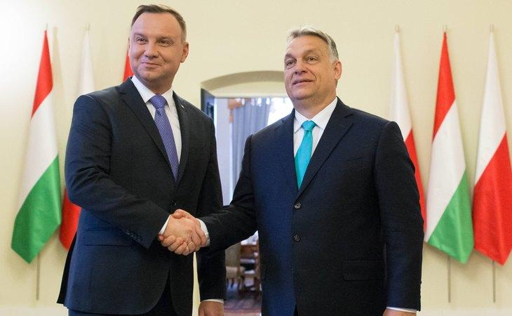 Andrzej Duda y Viktor Orbán, presidentes de Polonia y Hungría