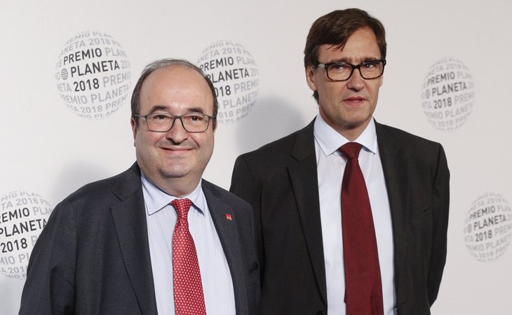 Miquel Iceta y Salvador Illa en la gala de los Premios Planeta 2018