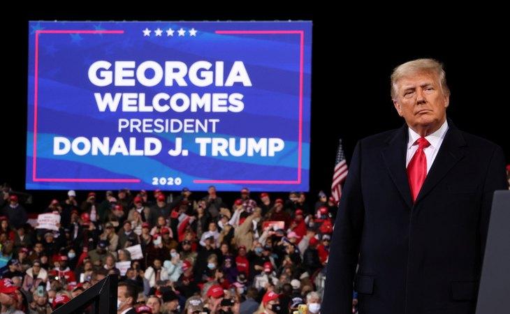 Donald Trump en un acto en Georgia