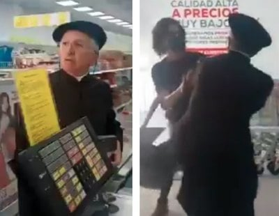 Un cura se lía a hostias en un supermercado por pedirle que se pusiera la mascarilla