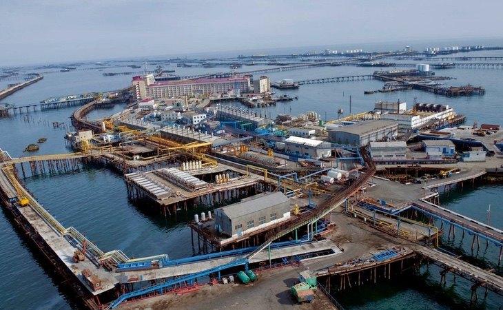 Se trata de una construcción sobre mar abierto