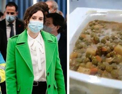 Ayuso reparte a dedo casi cinco millones de euros entre cuatro empresas por el Zendal mientras sirve comida con moho a sus pacientes