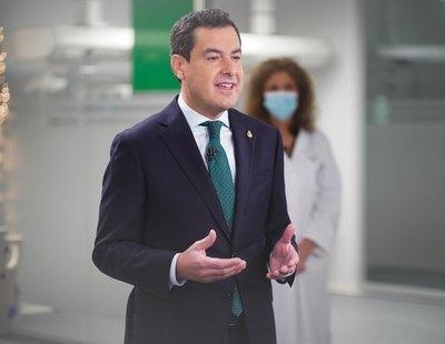 Rectificación: El presidente andaluz no concedió el contrato de mascarillas a la empresa en la que trabaja su esposa