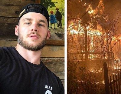 """Incendian y destrozan la casa de Matthew Camp, estrella porno gay: """"A la gente LGTBI se nos sigue atacando"""""""