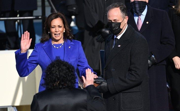 Kamala Harris, durante su investidura como vicepresidenta