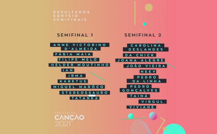 Así quedan repartidas las semifinales del Festival da Canção