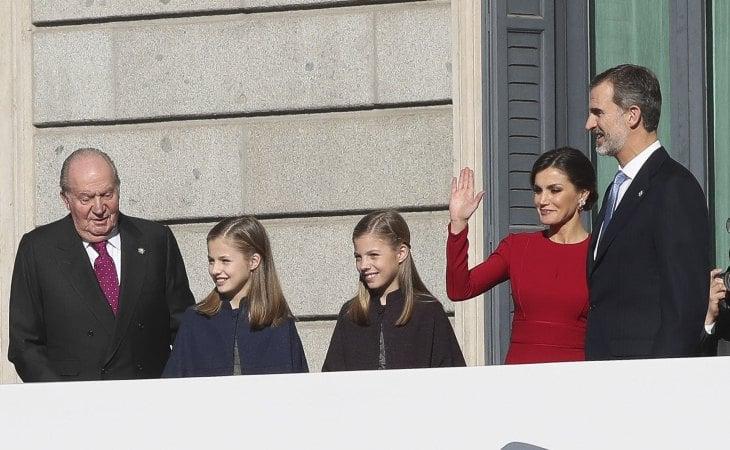 La última vez en público del emérito rey Juan Carlos junto a sus nietas, la princesa Leonor y la infanta Sofía