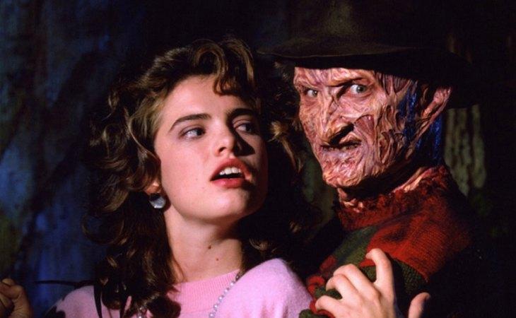 Heather Langenkamp & Robert Englund en una imagen promocional de 'Pesadilla en Elm Street 3: Los guerreros del sueño', de Chuck Russell