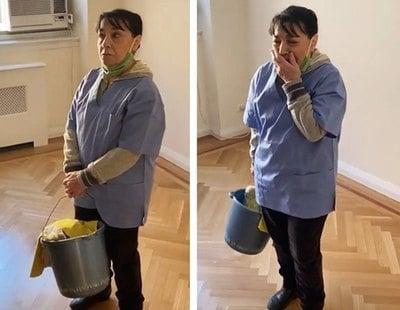 El increíble gesto de una comunidad de vecinos con la mujer de la limpieza tras perder su empleo