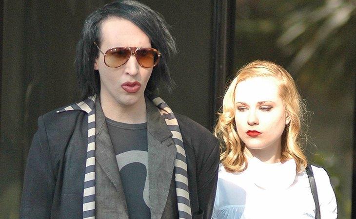 Marilyn Manson y Evan Rachel Wood, cuando eran pareja en 2007