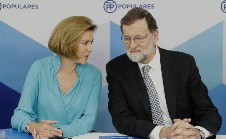 María Dolores de Cospedal y Mariano Rajoy, exdirigentes del PP