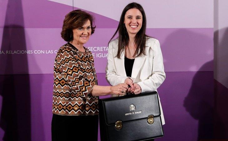 Carmen Calvo cedió Igualdad a Irene Montero cuando se conformó el Gobierno de coalición