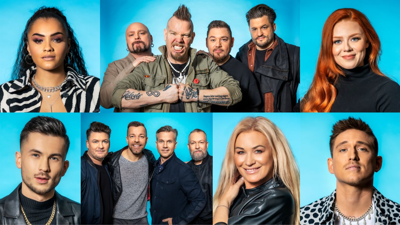Diversidad de géneros musicales, edades y experiencias entre los siete primeros participantes del Melodifestivalen 2021