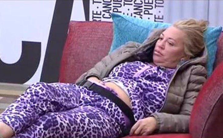 Belén Esteban en pijama en la casa de 'GH VIP'