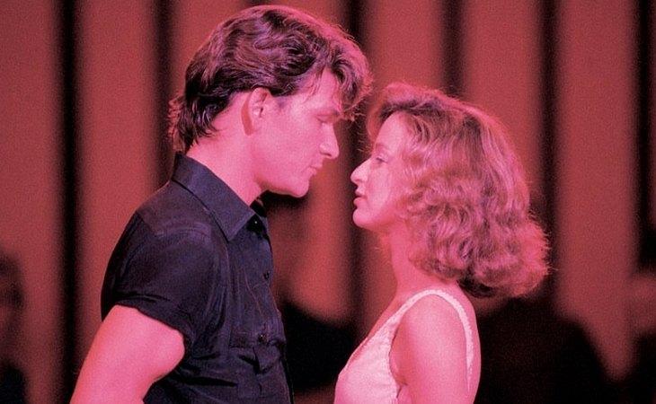 Patrick Swayze y Jennifer Grey, en un fotograma de 'Dirty Dancing'