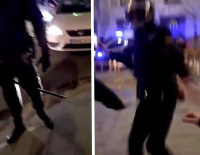 """Un antidisturbios llama """"puta de mierda"""" a una joven antes de apalearla en Madrid"""