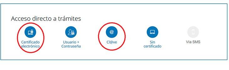 Se puede acceder con certificado electrónico o cl@ve y seguir los pasos que se indican