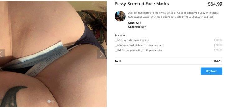 La venta de mascarillas con olor a vagina incluso numerosas psibilidades