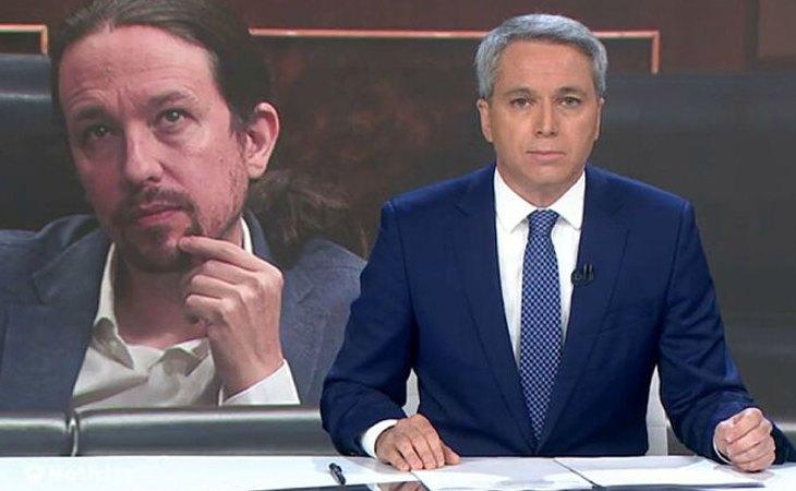 Vicente Vallés, durante un informativo de Antena 3