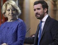 """Esperanza Aguirre estalla contra Casado: """"Es inaceptable que ataque personalmente a Abascal"""""""