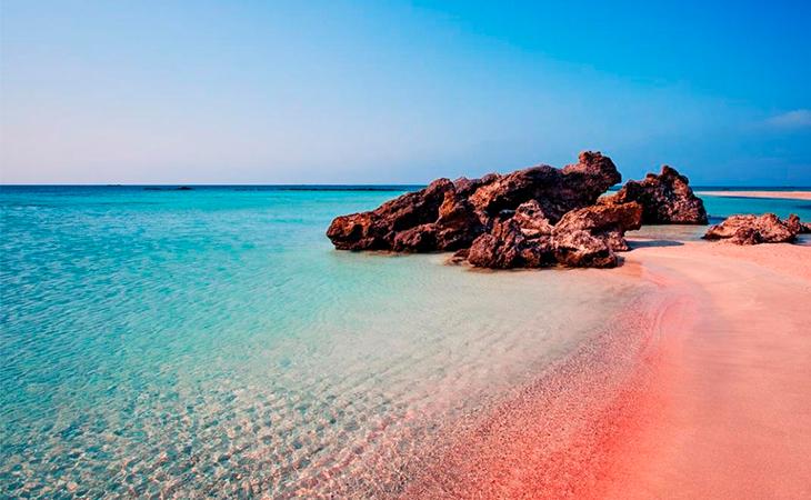 La playa rosa