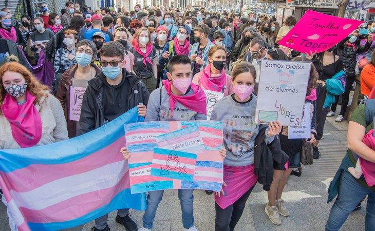Manifestación por la Ley Trans en Madrid