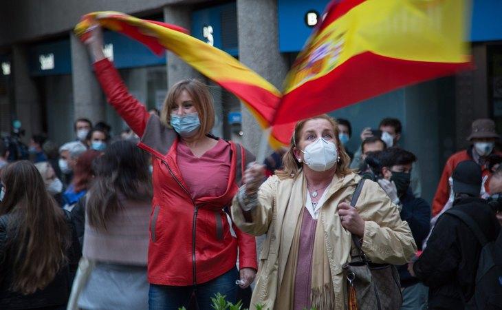 Las manifestaciones del barrio de Salamanca, las primeras de la pandemia