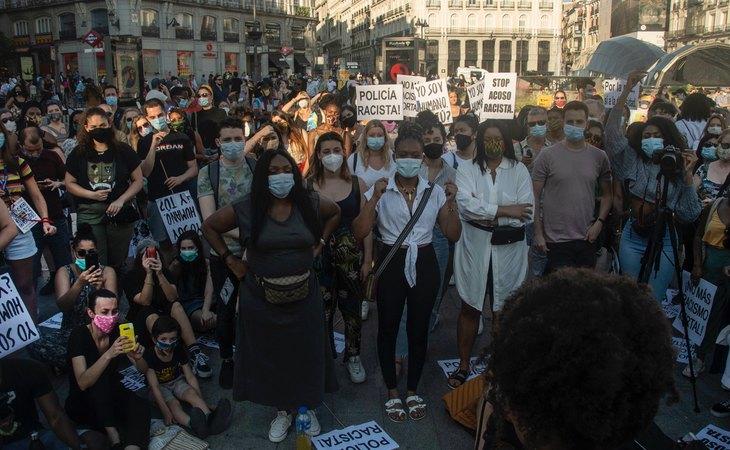 Manifestación en Madrid por el asesinato de George Floyd