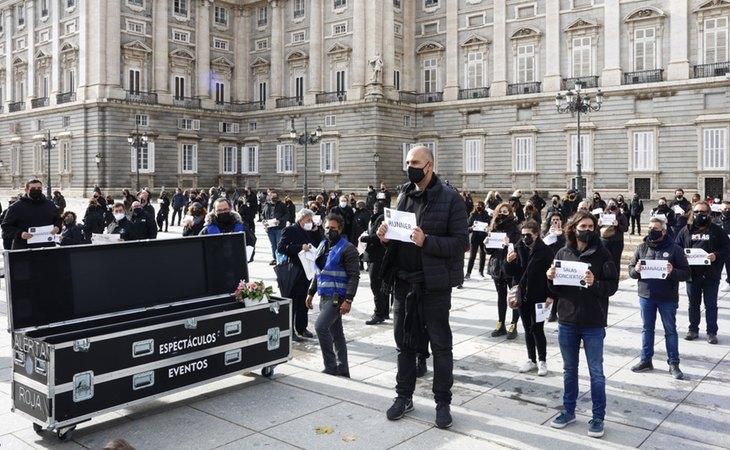 Los profesionales de la industria cultural han salido a la calle a protestar por su situación