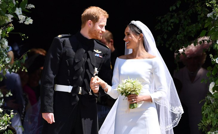El príncipe Harry y Meghan Markle, el día de su boda