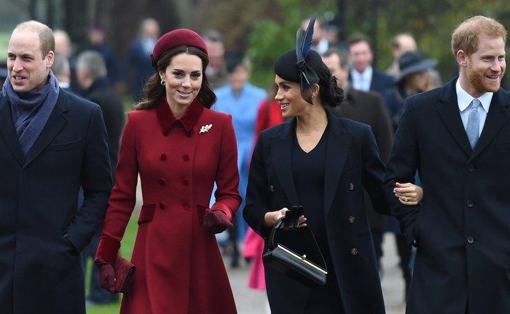El príncipe Guillermo y Kate Middleton, duques de Cambridge, y el príncipe Harry y Meghan Markle, duques de Sussex