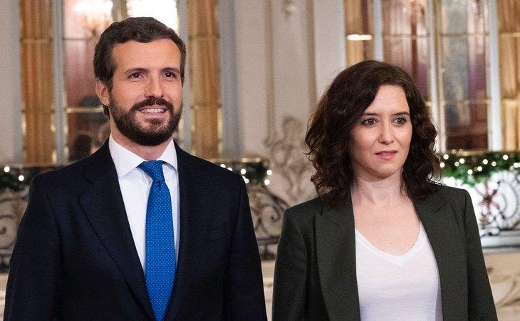 Casado y Ayuso abordaron la posibilidad de adelantar elecciones previamente
